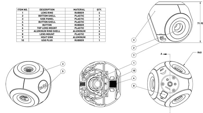 Bublcam camera 360 gradi