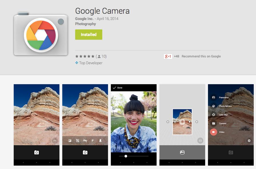 app per foto google camera